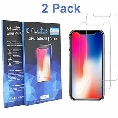 2x NUGLAS Tempered Glass Screen Protector Apple iPhone XS Max XR 8 7 6 6s Plus X