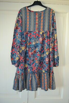 89c5cb9ef Zara girls 11-12 years Boho Hippy Festival Prairie Grey Floral Smock Dress