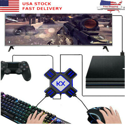Keyboard Converter Switch Xbox 360 PS4 PS3 Gamepad Mouse Controller Adapter APEX