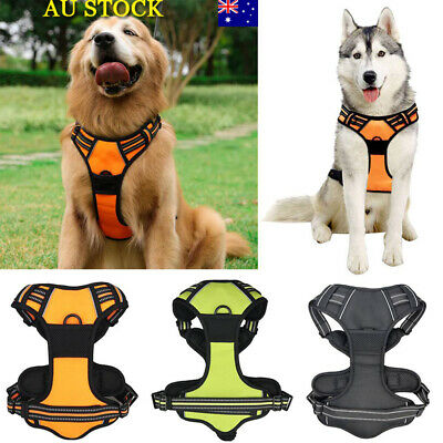 Large Dog No-Pull Harness Leash Rope Outdoor Adventure Pet Vest 3M Reflection