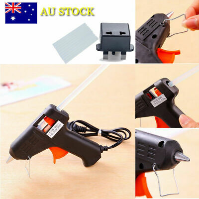 AU 20W Electric Hot Melt Glue Gun Trigger Adhesive Sticks Craft DIY Hobby Repair