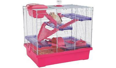 Rosewood Pink/Purple Pico Hamster Cage - X Large With Endless Hours of Fun NEW