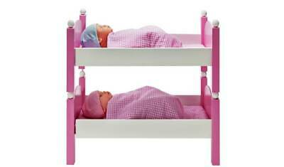 Chad Valley Babies to Love Wooden Doll's Bunkbed Set For A Sleepover NEW_UK