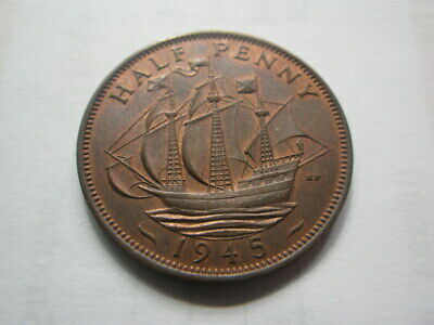 Great Britain George VI  1945  Half Penny (aEF)