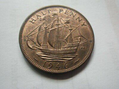 Great Britain George VI  1946  Half Penny (aEF-EF)