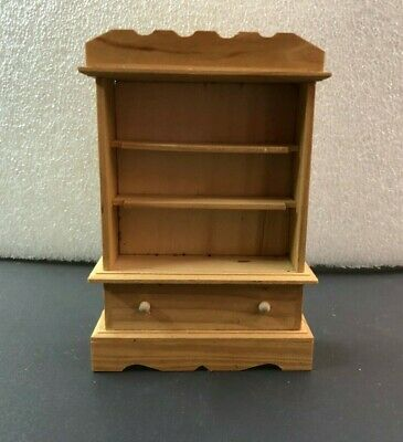 Vintage Doll House Dining Room Hutch Wood Natural Color Just Stain Leave As Is