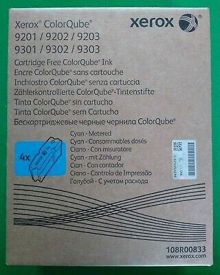 Xerox 108R00833 Cyan Ink (4 Cubes) for various ColorQube Models *NEW/SEALED*