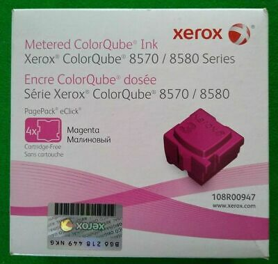 Xerox 108R00947 Magenta Solid Ink-ColorQube 8570 (4 Cubes) *NEW/SEALED*