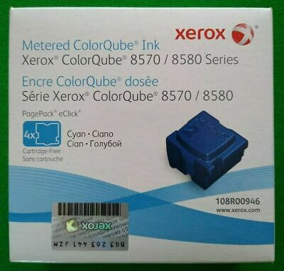 Xerox 108R00946 Cyan Solid Ink-ColorQube 8570 (4 Cubes) *NEW/SEALED*