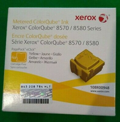Xerox 108R00948 Yellow Solid Ink - ColorQube 8570 (4 Cubes) *NEW/SEALED*