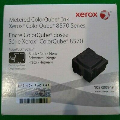 Xerox 108R00949 Black Solid Ink - ColorQube 8570 (4 Cubes) *NEW/SEALED*