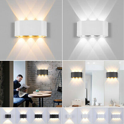 Modern LED Wall Lamp Up Down Light Nordic Style Hotel Sconce Wall Fixture Decor