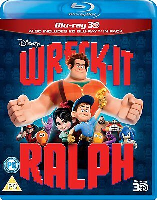 Wreck-It Ralph (3D + 2D Blu-ray, 2 Discs, Disney, Region Free) *NEW/SEALED*