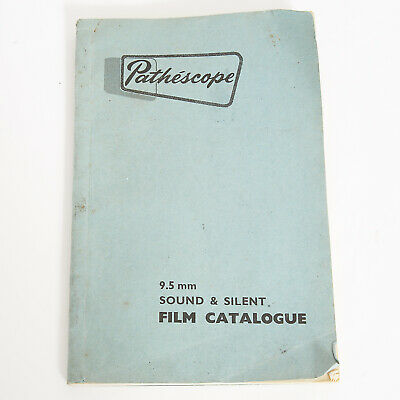 Pathescope 9.5Mm Sound & Silent Film Catalogue First Edition 1956-1957