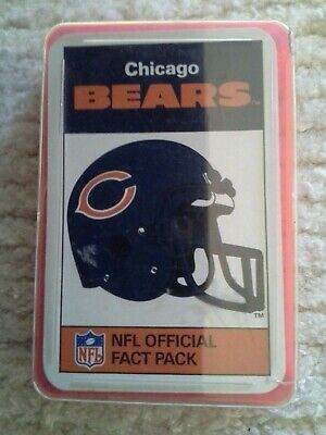 Vintage Ace NFL Official Chicago Bears fact pack cards 1986.