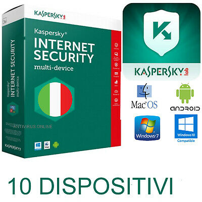 Kaspersky Internet Security Multidevice X10 2019  Originale 1Anno