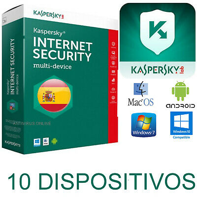 Kaspersky Internet Security Multidevice X10 2019  1 Año /  Envio Solo Por Email