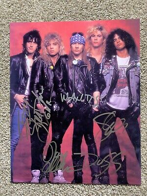 Guns N Roses Signed Autographed Photo Very Rare comes with COA