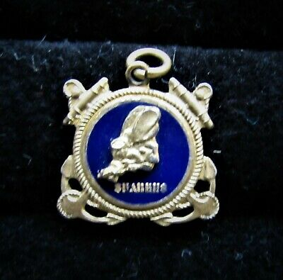 Ww2 Seabees Sterling Silver Pendant Navy Construction Battalion Metal Arts Co.