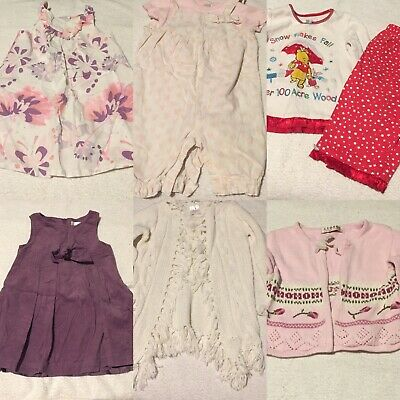 Girls Age 12-18 Months Clothes Bundle Dress Cardigan Pjamas Romper