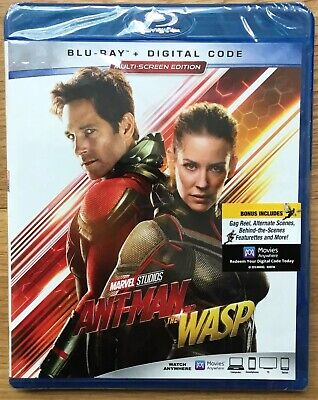 Ant-Man and the Wasp Blu-ray + Digital HD Brand New Sealed!!