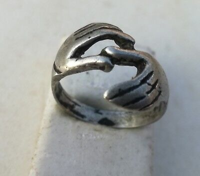 Rare Ancient Solid Ring Roman REAL Silver Stunning Artifact Rare Type with Stone