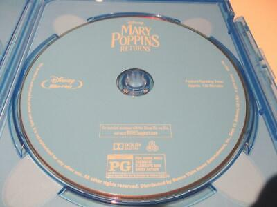 Mary Poppins: Returns (Blu-ray Disc, 2018) Never Viewed NO CASE FAST SHIP