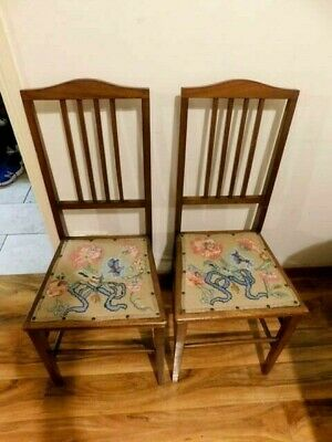 PAIR of EDWARDIAN INLAID BEDROOM CHAIRS
