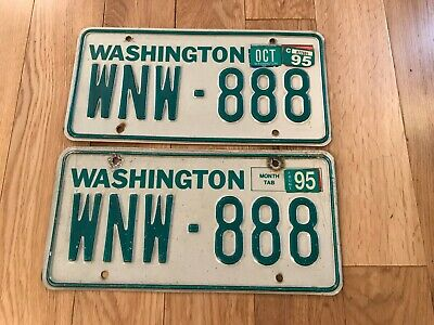 VINTAGE PAIR WASHINGTON LICENSE PLATE HMA 453 original car