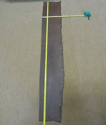 """BROWN BRIDLE  LEATHER OFF CUT 53"""" X 8""""(134 X 20 cm)  4mm THICK  CLEARANCE"""