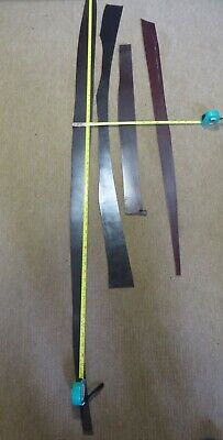 4 BROWN BRIDLE  LEATHER PIECES    3 -  4mm THICK -  CLEARANCE