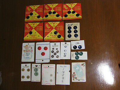 Vintage BUTTON CARDS  x 17 New old stock sewing clothing