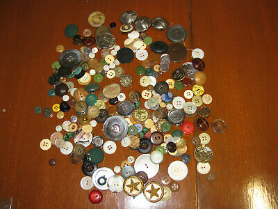 Vintage BUTTONS BULK LOT sewing clothing craft