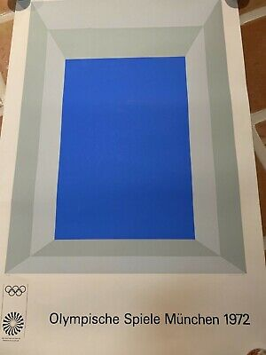 Josef Albers 1972 Olympics pencil signed #'d 21/200 Ltd edt lithograph datd 1970
