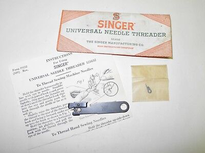 Vintage Singer Sewing Machine Universal Needle Threader #121632, Unused In Pack
