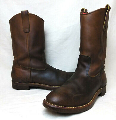 95841a2fb76 VTG RED WING Pecos Nailseat Pull-On Cowboy Engineer Boots Men's Sz ...