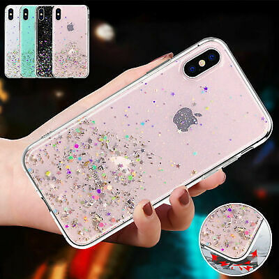 Cute Bling Glitter Sparkly TPU Shockproof Cover Case For iPhone XS Max XR 8 7 6