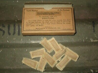 1.82-5 Authentic WWII WW2 Tooth Plasters Carry First Aid Medic Bag Pouch