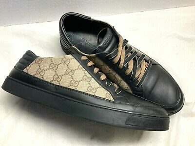 df7485ee0 NEW GUCCI MEN'S GG Supreme Canvas Caiman Alligator High Tops Shoes ...