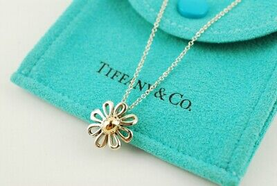 39720b662 Tiffany & Co. Sterling Silver and 18K Gold Daisy Pendant 16