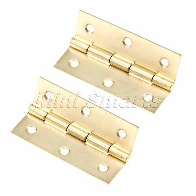 2x Classic Gold Furniture Cabinet Hinge Door Hinges Wood Box Decoration 60*37mm