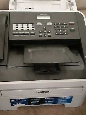 Brother FAX-2840 Mono Laser FAX Machine with handset, copy & print
