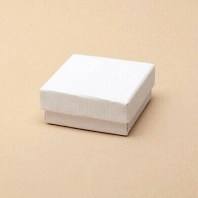 12 x Pack Small White Gift Boxes   Jewellery/ Ring/ Earrings/ Party Favours etc.