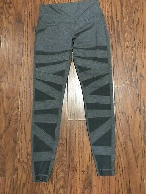 47a7d2131ed6f RARE LULULEMON TECH Mesh pants leggings Sz 4 Black Wonder under pant ...