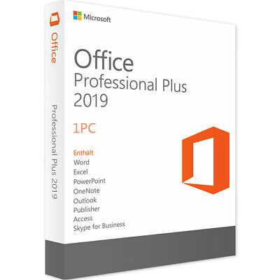 Microsoft Office 2019 Professional Plus For Windows Product Key License 32/64bit