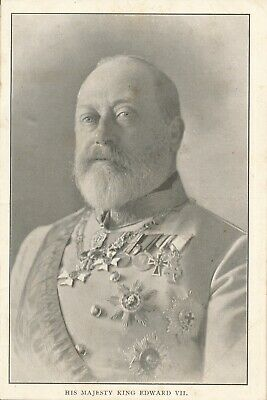 King Edward Vii Postcard - My Queen & Romance Series