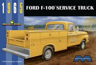 Model King 1235 1965 Ford F-100 Service Truck  plastic model kit 1/25 IN STOCK!
