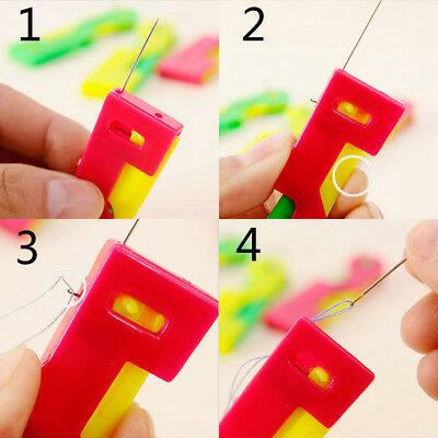 1/5/10pcs Practical Automatic Needle Pin Threader Tool Device Sewing Machine~GN