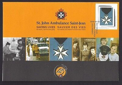 Canada S79   Special Event Cover  St. John Ambulance  2008    New & Unaddressed