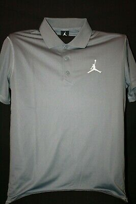 e5852781b80 NIKE AIR JORDAN Jumpman Team Dri-Fit Golf Polo Shirt Black Mens New ...